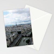 Paris Skyline with Eiffel Tower Stationery Cards