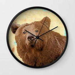 Papa Bear Baby Pop ART Wall Clock