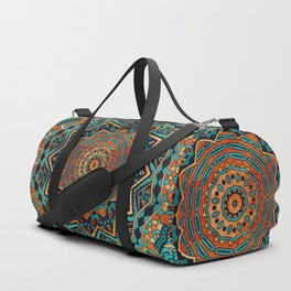 Blue and Gold Mandala Duffle Bag