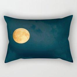 Full Moon Shines Overnight #decor #society6 #buyart #homedecor Rectangular Pillow