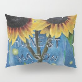Lightning Bugs and Sunflowers Pillow Sham
