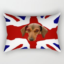 The Smooth Side of being British Rectangular Pillow