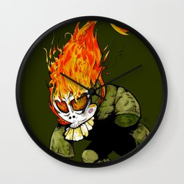 Little keeper of the fire Wall Clock