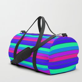 StRipES Pink Teal Blue Duffle Bag
