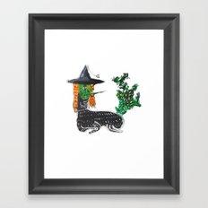 BRUJA DE NOPALES/CACTUS WITCH Framed Art Print