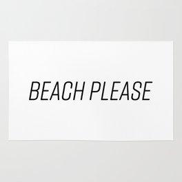 Beach Please! (Black) Rug