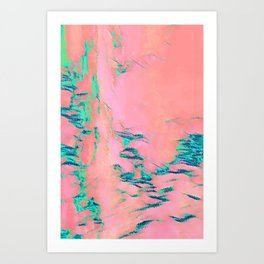 I See Beauty - Malachite Marble Art Print