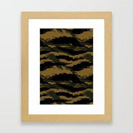 Green Tiger Camouflage Framed Art Print