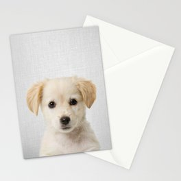 Golden Retriever Puppy - Colorful Stationery Cards