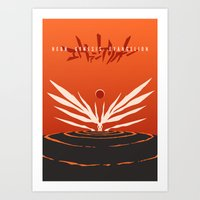 evangelion Art Prints featuring The End of Evangelion by Gershom Charig