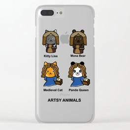 Artsy Animals Clear iPhone Case