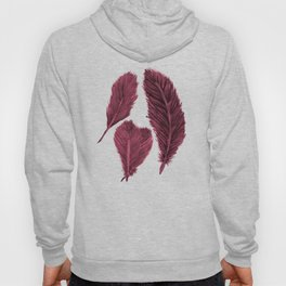 Feather Collection - bordeux Hoody