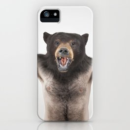 Therianthrope - Angry Bear iPhone Case