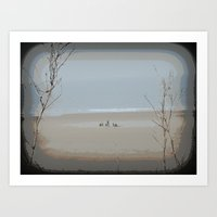 Family Time at the Beach Art Print