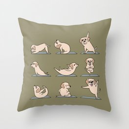 Labrador Retriever Yoga Throw Pillow