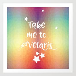Take Me To Velaris - Night Court Print -A Court of Mist and Fury Rainbow Art Print