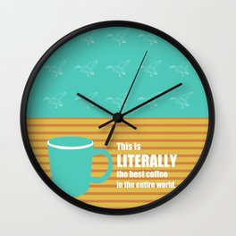 Pawnee Coffee Wall Clock