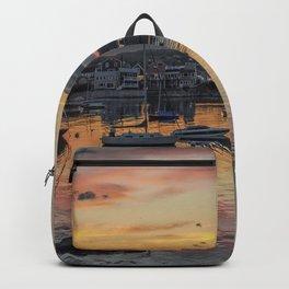 Sunset in Rockport Harbor 6-10-18 Backpack