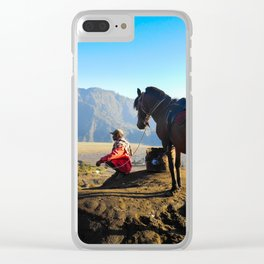 Mount bromo Indonesia Clear iPhone Case