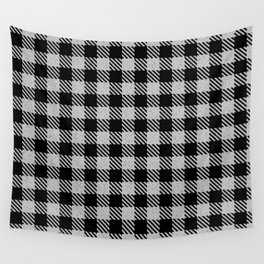 Linen  Bison Plaid Wall Tapestry