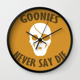 Goonies Never Say Die Wall Clock