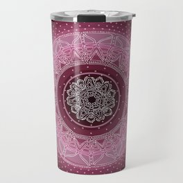 Allowing on Black Background Travel Mug