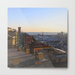 Tramonto a Genova Metal Print