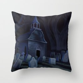 Sleepy Hollow Churchyard Cemetery Throw Pillow