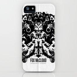 Fox McCloud Star Fox Inspired Geek Psychological Inkblot iPhone Case