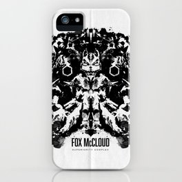 Fox McCloud Star Fox Inspired Geek Psychological Inkblot iPhone Case