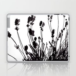 Lavendel Field Flower Abstract Black and White Markers Laptop & iPad Skin