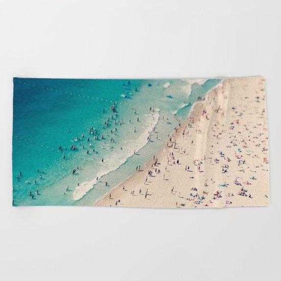 beach love V Beach Towel