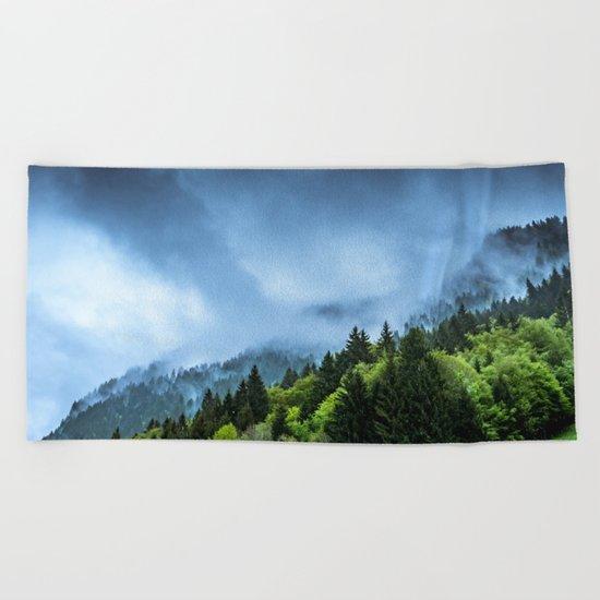 Landscape fog #society6 Beach Towel