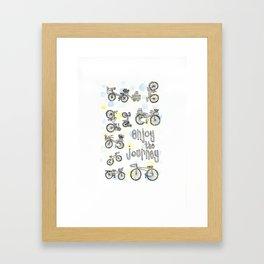 Enjoy the Journey- bicycle patter  Framed Art Print