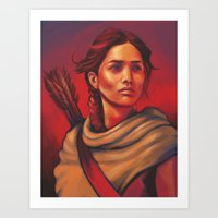 katniss Art Prints featuring Katniss by JenHoney