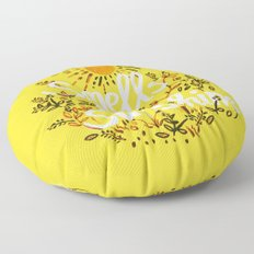 Smells Like Sunshine Floor Pillow