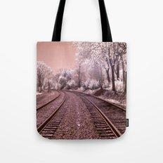 Train Track in Culpeper Tote Bag