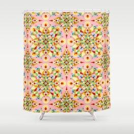 Pink Confetti Shower Curtain