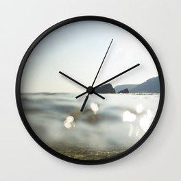 Clear Blue sea at Porthcurno, Cornwall Wall Clock
