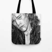 harry styles Tote Bags featuring HARRY STYLES by Labani
