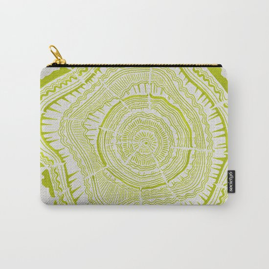 Lime Tree Rings Carry-All Pouch