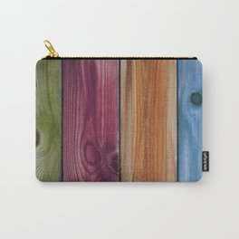 Wooden Rainbow Carry-All Pouch