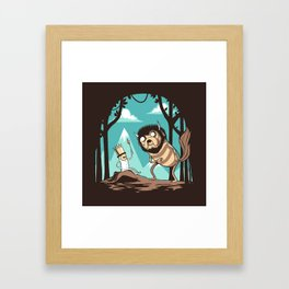 Where the Wild Adventures Are Framed Art Print