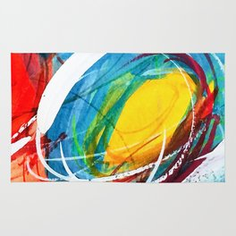 The right storm - Colourful abstract Rug