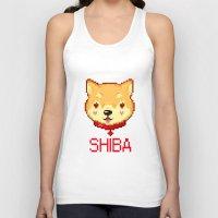 shiba inu Tank Tops featuring SHIBA INU LOVE by giaj