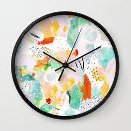 toto: abstract painting Wall Clock