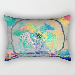 Glitch Horse II Rectangular Pillow