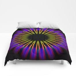 Purple Eye Mandela Abstract Comforters