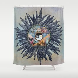 All Tribes Heed the Call Shower Curtain