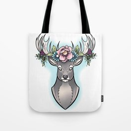 Floral Stag Tote Bag